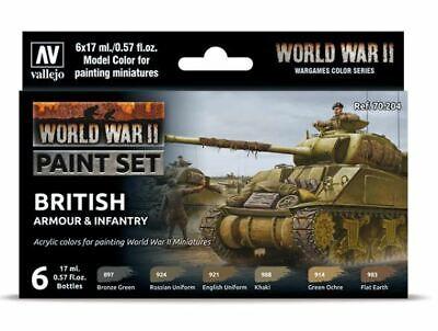 Vallejo WWII British Armour Paint Set