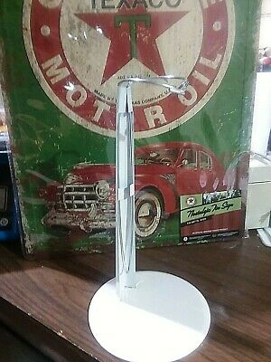 """3 New Adjustable 15"""" Metal White Doll Stands"""