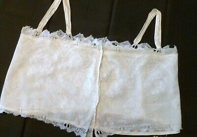 1900s Antique CAMISOLE CORSET COVER Lace and SILK Liner