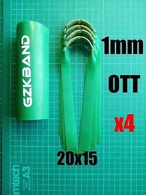 GZK PRO OTT Slingshot/Catapult  1mm Hunting Bands x4 With Super Fibre Pouches