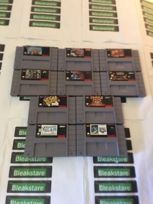 USED Super Nintendo SNES VIDEO GAMES YOU CHOOSE SUPER MARIO CART STREET FIGHTER