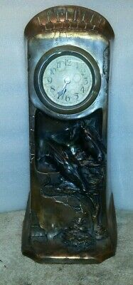 Unusual 30 hour french Antique horse clock