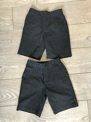 Two Pairs Of Boys George Grey School Shorts 7-8 Years