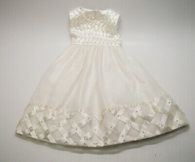 One-Shoulder Flower Girl Dress Wedding Pageant Birthday Party White Sz 2T-8 #273