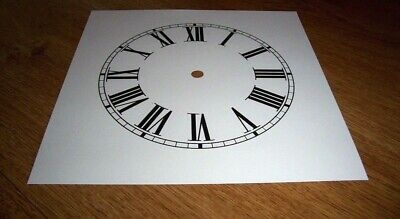 "Ogee Paper (Card) Clock Dial - 8"" M/T - Roman -  MATT WHITE -  Parts/Spares"