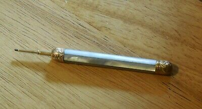 Antique Victorian Mother Of Pearl And Gold Mechanical Pencil