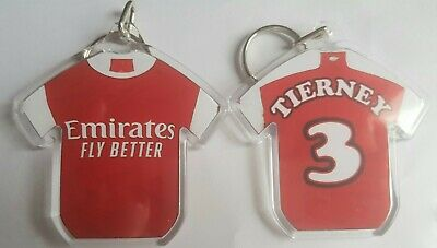 Arsenal Football Club 19/20 personalised keyring with badges