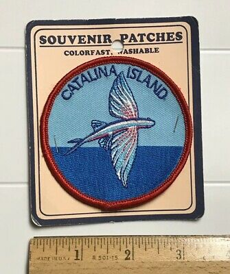 NIP Catalina Island Flying Fish California CA Round Embroidered Souvenir Patch
