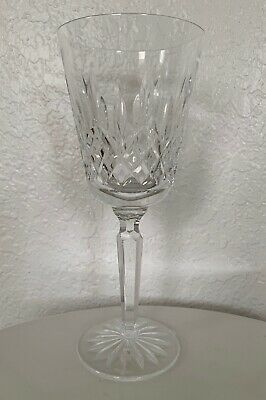 "WATERFORD Crystal 8 1/4"" LISMORE Tall Water Goblet"