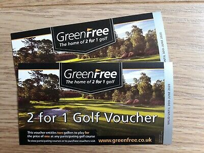2x GREENFREE  2 for 1 golf vouchers (valid to 30th June 2020)