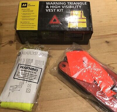 Warning Triangle & High Visibility Vest Kit AA Car Essentials