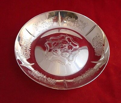 English Silverplate Eisenberg-Lozano Bowl or Dish with Floral Design