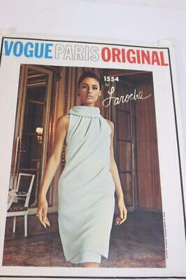 Vintage Vogue Paris Original Laroche 1554 Pattern Size 14 -GORGEOUS DRESS