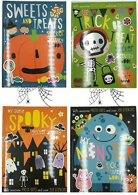 Trick or Treat Halloween Sticker Activity Book A4 Spooky Colouring RRP £4.99