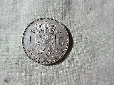 Netherlands 1957     1G Coin  Silver