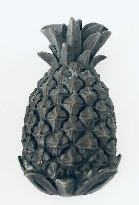"1 Vintage Solid Dark Brass Pineapple Door Knocker 7"" H x 4"" W Heavy 2 Available"