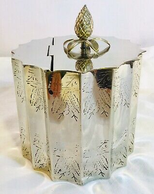 1991 Godinger Silver Co Silver Plated Lidded Jewelry/Trinket/Keepsake Box home