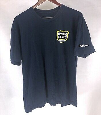 Mens Reebok CrossFit Games 2014 Regionals Judge Blue T-Shirt Sz XL Weightlifting