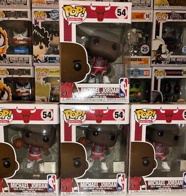LOT OF 3 Funko Pop NBA Chicaho Bulls Michael Jordan Vinyl Figure 54 Exclusive