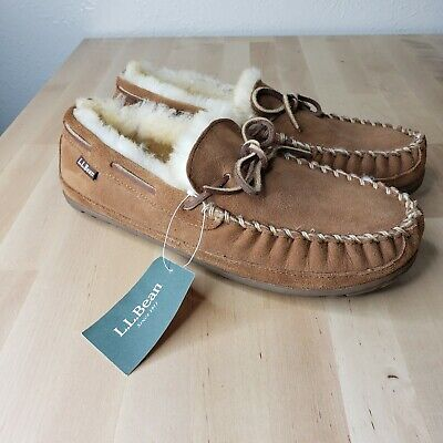 Mens Size 8 M LL BEAN Wicked Good Slipper Moccasins II Brown Casual