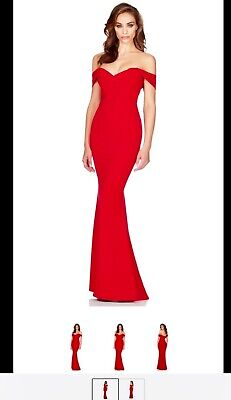 Nookie Camille Red Gown Small Brand New