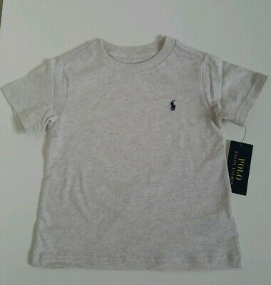 NWT Polo Ralph Lauren Toddler Boys T Shirt Beige Heather Size 2/2T