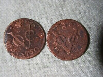 Netherlands   East Indies  1757,1767 Coins