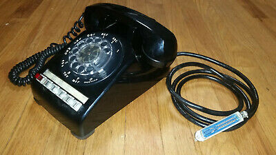 Bell System Western Electric 564HD Black Phone Rotary Desk Multi Line Phone 1963