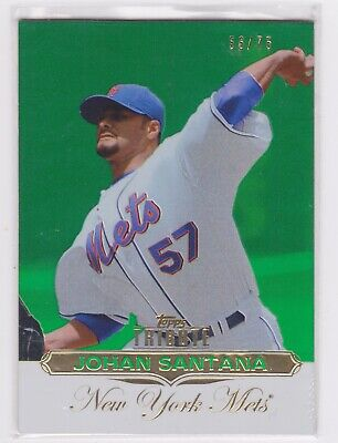2011 Topps Tribute Johan Santana - Green Parallel #56/75