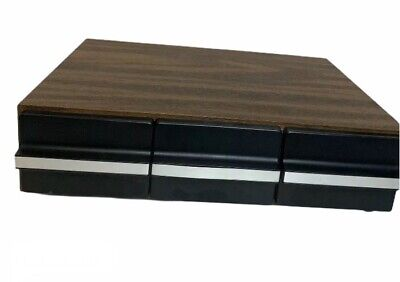 Wooden Cassette Tape Box Drawer Organizer 36 Tapes Free Shipping