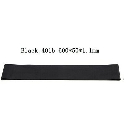 Black Resistance Elastic Band Exercise Gym Latex Rubber Fitness Stretch Belt