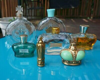 Lot of 9 Vintage Prince Matchabelli Perfume Bottles and Presentation Boxes