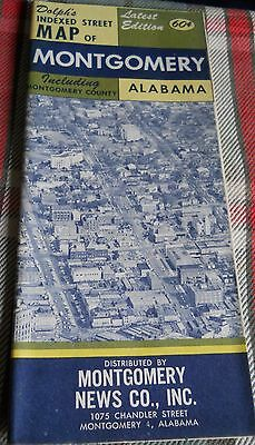 1960s Dolph's Indexed Street Map of MONTGOMERY ALABAMA +MONTGOMERY COUNTY