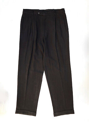 EMPORIO ARMANI!!! Vintage 1990s 'Emporio Armani' men's charcoal pleated pants /