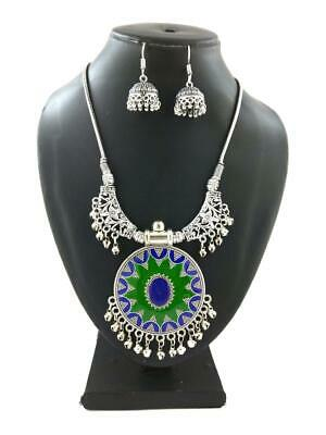 Afghan Gypsy Kuchi Banjara Tribal German Silver Plated Navratri Jewellery Set...