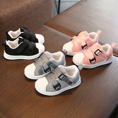 Kids Boys Girls Sports Shoes Casual Trainers Cute Baby Toddlers Flat Trainers