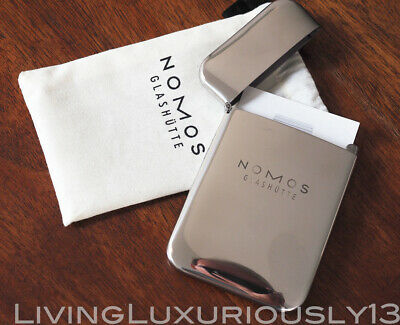 Original Nomos Visitenkarten Box Business Card Box Metall