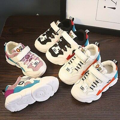 Kids Toddler Boys Girls Trainers Sports Shoes Sneakers Casual Flats EUR22-EUR36