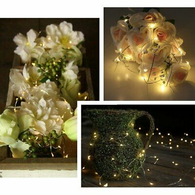 Waterproof 2m 20LED Day White Starry Fairy String Lights Centerpiece Party Decor