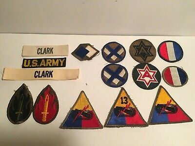Wwii Korean War Us Army Patches 63Rd Div 96Th Inf Div 6Th Army 13Th Armor Tradoc