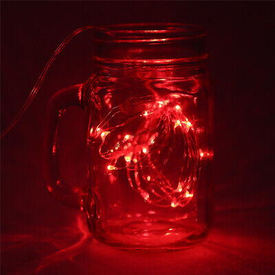 2m 20LED Red Starry Fairy String Light Centerpiece DIY Party Lighting Waterproof