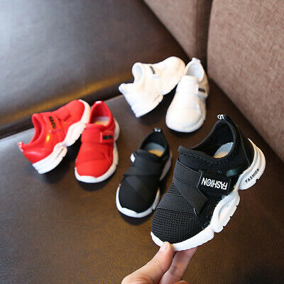 Kids Boys Girls Mesh Sports Shoes Casual Athletic Sneakers Baby Toddler Trainers