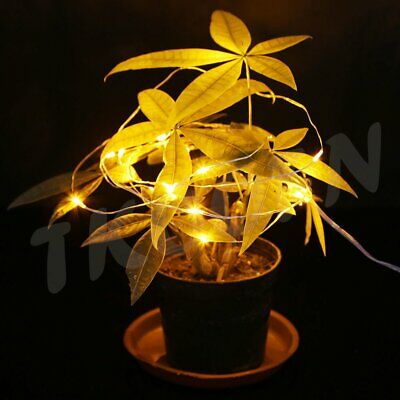 Waterproof 2m 20LED Yellow Starry Fairy String Centerpiece DIY Party Lighting