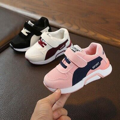 Kids Boys Girls Sports Shoes Mesh Trainers Casual Flats Baby Toddlers Sneakers