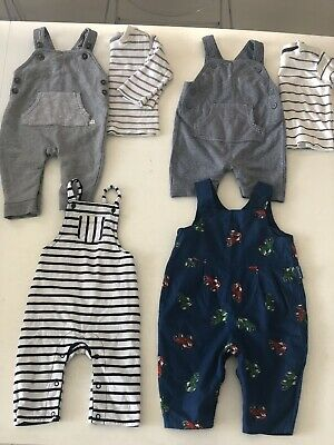 Little White Company George ASDA Seesaw Boys 3-6m Trousers Dungarees Bundle