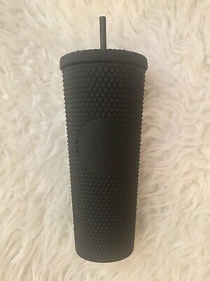 BRAND NEW Starbucks Autumn/Fall 2019 Matte Black Studded Tumbler Cold Cup, 24oz