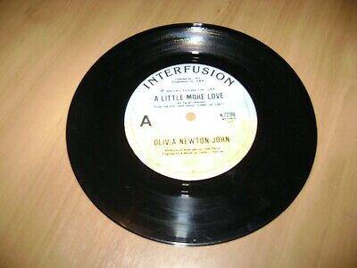 olivia newton john a little more love free postage jukebox 45 records wall art