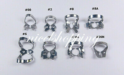 2 Pc Stainless Steel Dental Rubber Dam Clamps Brinker Frame Template Restorative