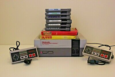 Nintendo Entertainment System NES Original Console & 8 Game Bundle Working