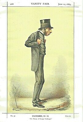 George Joachim Goschen, 1st Viscount Goschen - by APE  for Vanity Fair 1869